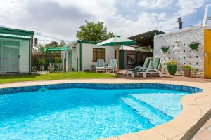 Refresh yourselves in our sparkling pool and braai in our superb barbecue area