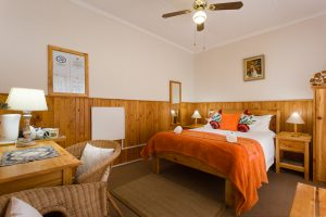 Room 3, cosy and intimate, with double bed and en-suite bathroom with shower