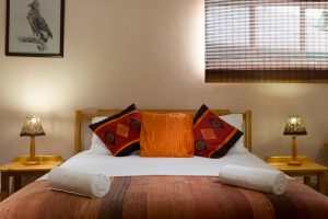 Enjoy the luxury of a queen sized bed in our large Room 5, which sleeps 6 people